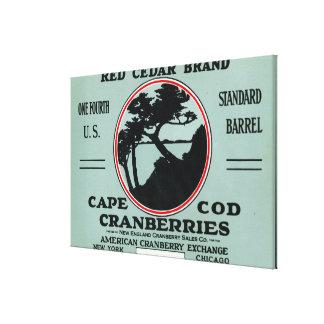 Cape Cod Red Cedar Brand Cranberry Label Canvas Prints