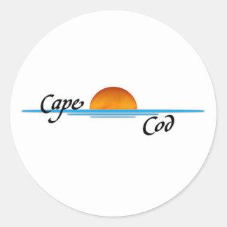 Cape Cod Round Sticker