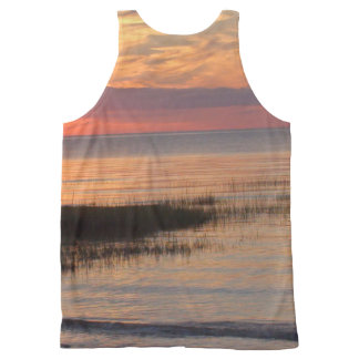 Cape Cod Sunset All-Over Printed Tank Unisex All-Over Print Tank Top