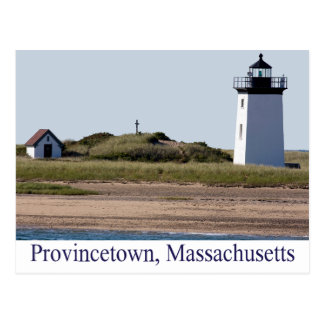 Cape Cod Wood End Lighthouse Provincetown MA Postcard