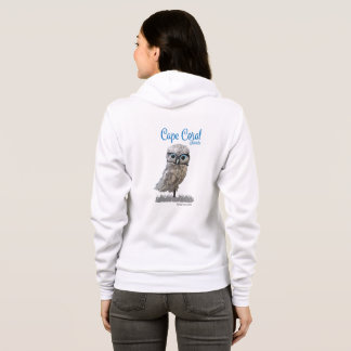 Cape Coral Florida Burrowing Owl Coastal Art Hoodie