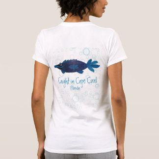 Cape Coral Florida Whimsical Fish Art T-Shirt