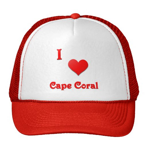 Cape Coral -- Red Trucker Hat