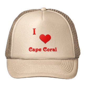 Cape Coral -- Red Trucker Hats