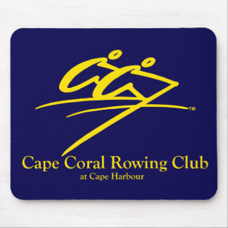 Cape Coral Rowing Club Logo Navy/Gold (Official) Mouse Pad
