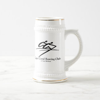 Cape Coral Rowing Club Logo (Official) 18 Oz Beer Stein