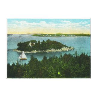 Cape Elizabeth View of Two Lighthouses Canvas Print
