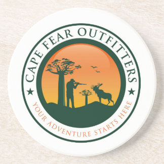 Cape Fear Outfitters Logo Drink Coaster