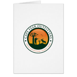 Cape Fear Outfitters Logo Greeting Card