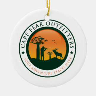 Cape Fear Outfitters Logo Round Ceramic Decoration