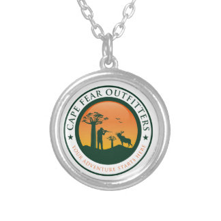 Cape Fear Outfitters Logo Round Pendant Necklace