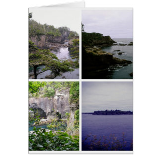 Cape Flattery collage Card