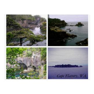 Cape Flattery horizontal collage postcard