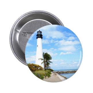 Cape Florida Lighthouse 6 Cm Round Badge