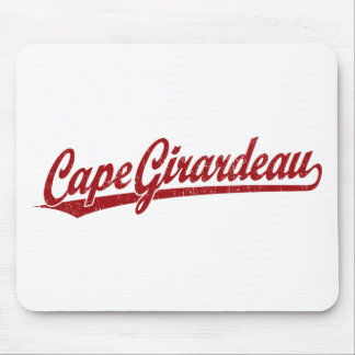 Cape Girardeau script logo in red Mouse Pad