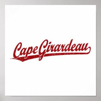 Cape Girardeau script logo in red Posters