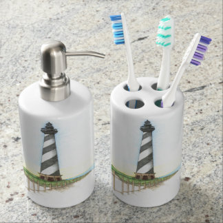 Cape Hatteras Lighthouse Bathroom Despenser Set