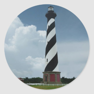 Cape Hatteras Lighthouse Classic Round Sticker