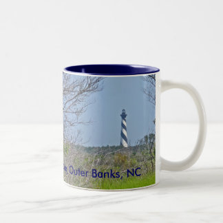 Cape Hatteras Lighthouse from Wetlands Series Two-Tone Coffee Mug