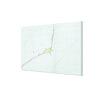 Cape Hatteras National Seashore Map (1985) Canvas Print