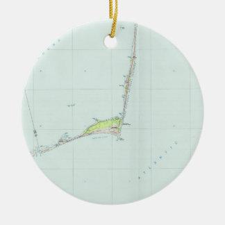 Cape Hatteras National Seashore Map (1985) Ceramic Ornament