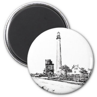 Cape May 6 Cm Round Magnet