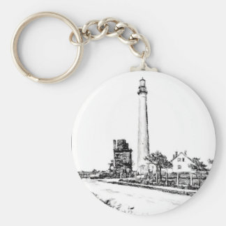 Cape May Basic Round Button Key Ring