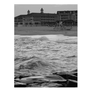 Cape May Beach in B&W Postcard