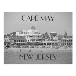 Cape May Black & White Postcard