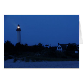 Cape May Lighthouse at Dusk greeting card