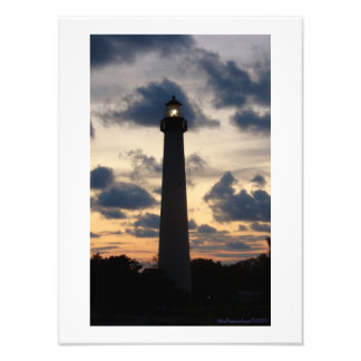 Cape May Lighthouse at Sunset Art Photo