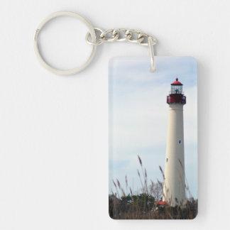 Cape May Lighthouse Double-Sided Rectangular Acrylic Key Ring