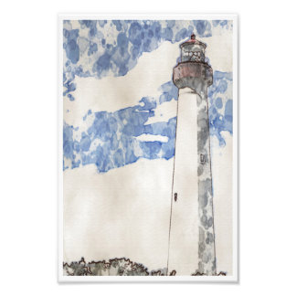 Cape May Lighthouse, painting Photo Print
