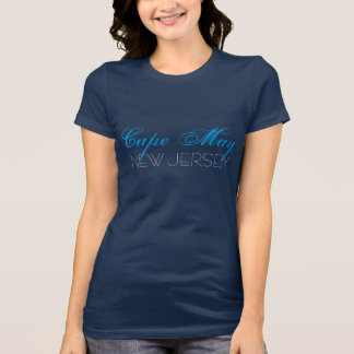 Cape May New Jersey Blue and White custom T-Shirt