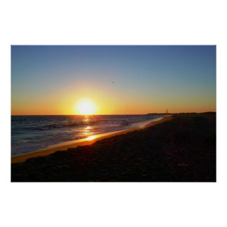 Cape May New Jersey Horizon Sunset Poster