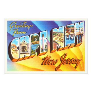 Cape May New Jersey NJ Vintage Travel Postcard- Photographic Print