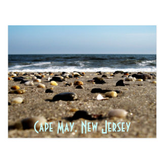Cape May, NJ Beach Scene Postcard