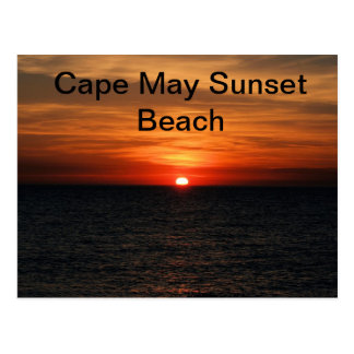 Cape May NJ Sunset Beach Postcard