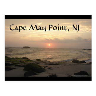 Cape May Point, NJ at sunset greeting card