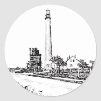 Cape May Round Sticker