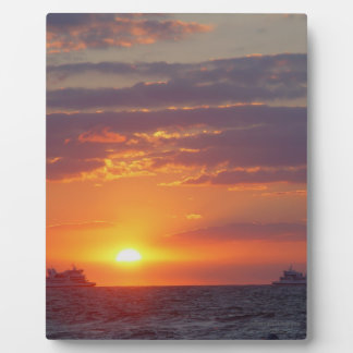 Cape May Sunset Two Ships Passing Plaque