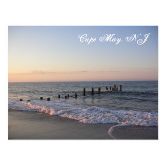 Cape May Waves Postcard