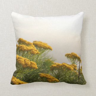 Cape Misty Yellow Flowers Pillow