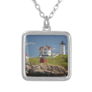 Cape Neddick Lighthouse Silver Plated Necklace