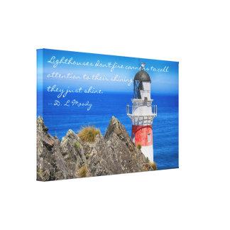 Cape Palliser Lighthouse Canvas Wrap Canvas Print