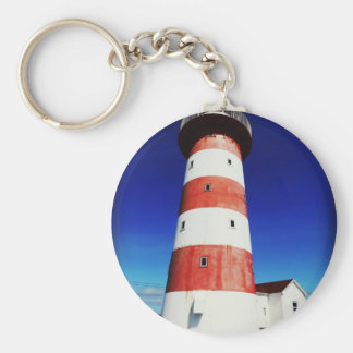 Cape Pine Lighthouse Key Ring