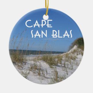 Cape San Blas Florida Ceramic Ornament