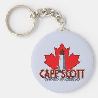 Cape Scott Lighthouse Basic Round Button Key Ring