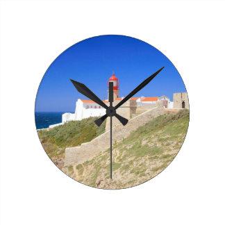 Cape St Vincent at Sagres Wall Clock