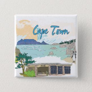 Cape Town 15 Cm Square Badge